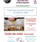 ECOLE DU JUDO = CHANGEMENT D'HORAIRE